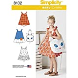 Simplicity 8102 Girl's Cat Tote Bag and Sundress