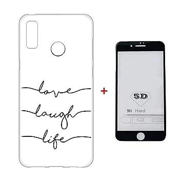 Funda Huawei P20 Pro Case + 5D Protector de Pantalla de Vidrio Templado Lanpangzi TPU Silicona Ultra Suave Transparente Anti-rasguños Cover: Amazon.es: ...