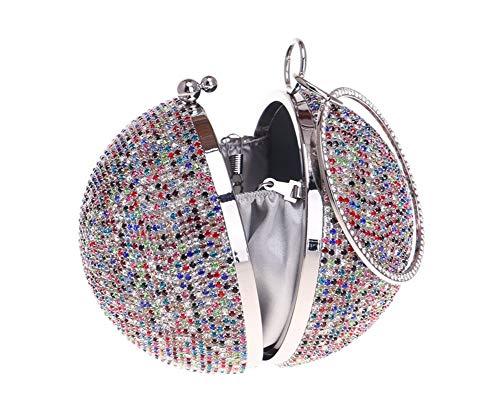 De A La Diamantes Oro Data Cadena bolso Embrague Boda Fiesta Vestido Con Para Cena Noche Que Esférico Tachuelas Bolso Golden B Mujer Americana dZR4wSxdq
