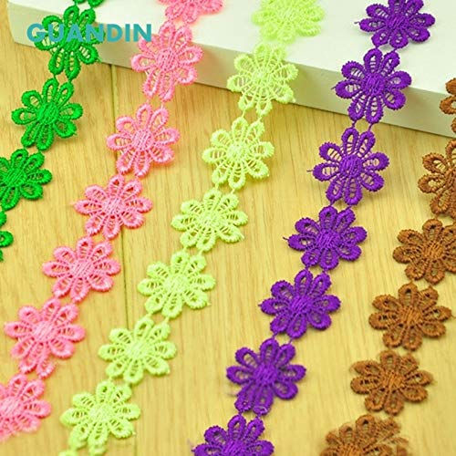 HB003-1Y Shoppy Star GUANDIN Colored Petal Lace Accessories Water-soluble Lace Edge Coat Decoration Accessories Hand-decorated Multi-color Flower