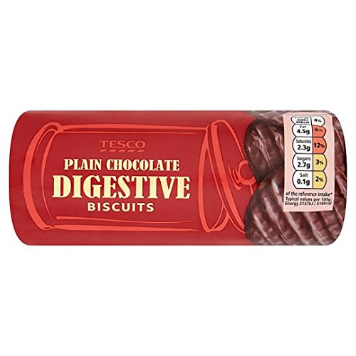 Tesco Plain Chocolate Digestive Biscuits 300G