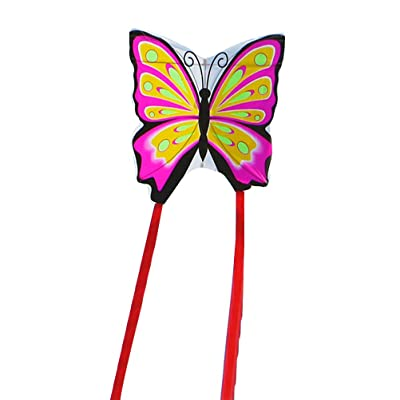 LIOOBO Butterfly Shaped Kite - Easy to Assemble, Launch, Fly - Premium Quality, Great for Beach Use - The Best Kite for Everyone - Girls, Boys, Kids, Adults: Sports & Outdoors