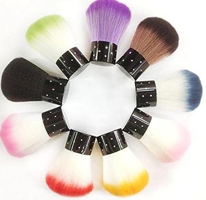 Facile da usare Strumento per la pulizia delle spazzole antipolvere per unghie/gel UV per unghie con mini stelle - Colore casuale (Colore : Random) ShireyStore