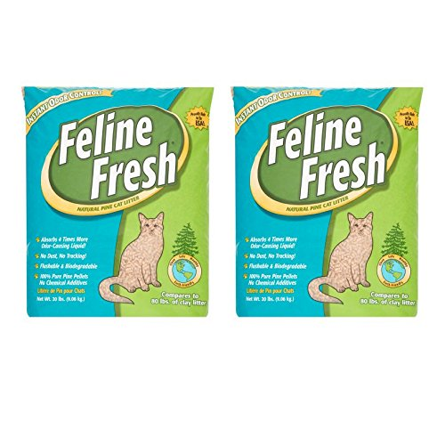 Feline Fresh Natural Pine Cat Litter, 20 Lbs - 2 Pack