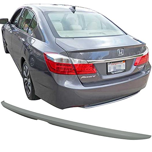 Pre-painted Trunk Spoiler Fits 2013-2016 Honda Accord | OE Style ABS Painted # NH19788P White Orchid Pearl Rear Tail Lip Deck Boot Wing By IKON MOTORSPORTS | 2014 2015