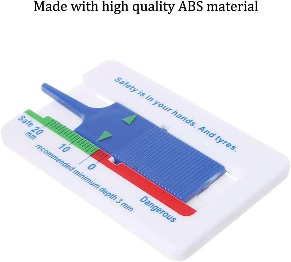 20 mm Tiefe Meter Vernier Tiefenmessschieber Reifen Profiltiefenmesser f/ür Auto Motorrad Van SUV LKW Rad Measure Tool 6 St/ücke Blau