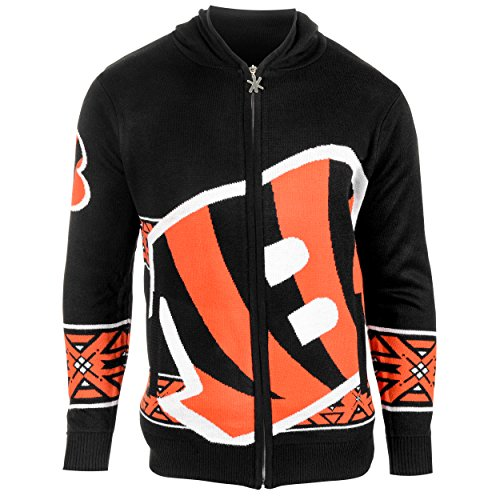 NFL Bengals Zip Hooded Sweater