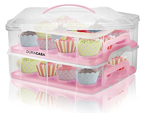 Cupcake Shaped Cupcake Holder Vonshef Snap And Stack Pink
