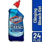 Clorox Toilet Bowl Cleaner, Rain Clean - 24 Fluid Ounces (Pack of 12)