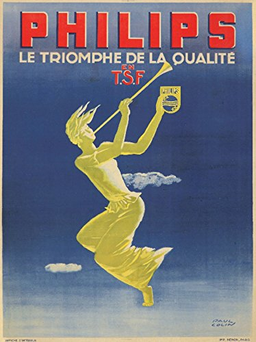 - Philips Vintage Poster (artist: Colin) France c. 1943 (9x12 Art Print, Wall Decor Travel Poster)