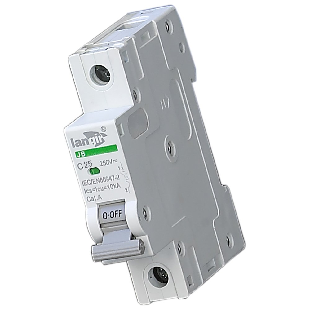 LANGIR 25A 250V DC Single Pole DC Circuit Breaker Switch C Curve With TUV Certificates