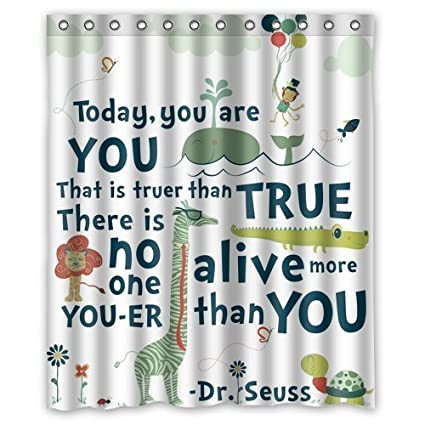 Image Unavailable Not Available For Color Lozeow Custom DrSeuss Printing Shower Curtain