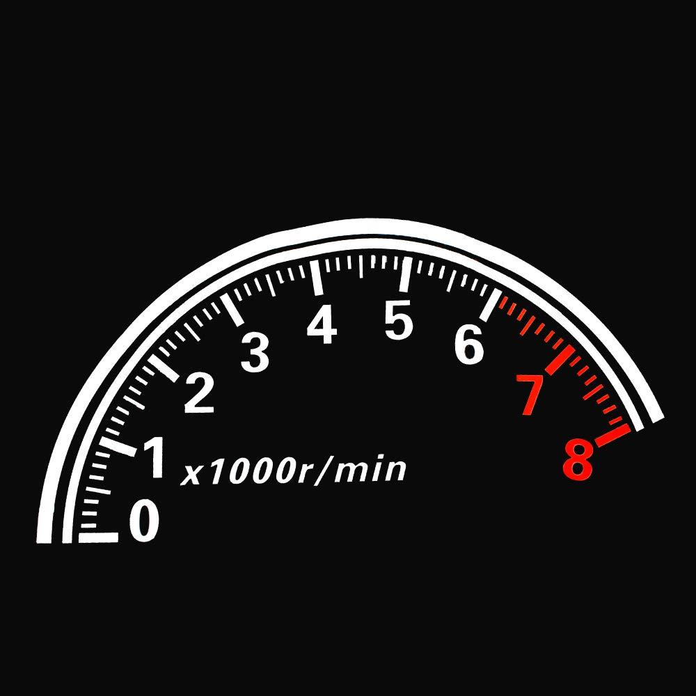 Amazon com bemsot auto reflective car rear window decoration speedometer sport speed cool car sticker stickers 60x30cm automotive