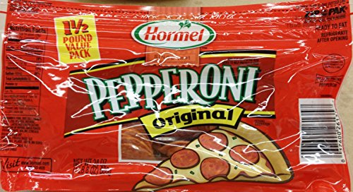 21 Ounce Hormel Pepperoni Deli Thin Sliced (1.5 Pounds Total), Pack of - Pepperoni Hormel