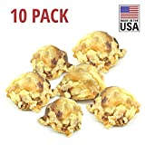 Downtown Pet Supply All Natural 100% USA Beef Kneecaps and Jumbo Knuckles for Dogs, Healthy Dog Training Treats Chews, Long Lasting Dental Toy Chews (Knee Caps, 10 PK)