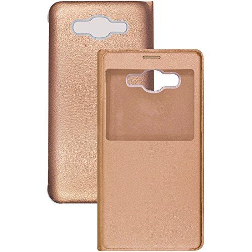 Casotec Caidea Flip Case Cover with Silicon TPU Back for Samsung Galaxy Grand Prime G530   Black