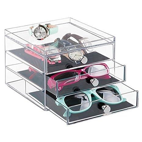 73580850c1e5 mDesign Stackable Watch   Eyeglass Organizer Holder for Sunglasses ...
