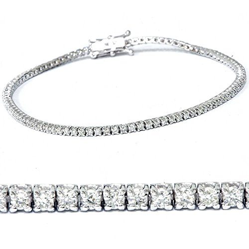 2ct Diamond Tennis Bracelet 14K White Gold 7
