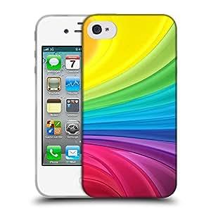 Super Galaxy Coque de Protection TPU Silicone Case pour // V00000409 Extracto del fondo del arco iris // Apple iPhone 4 4S 4G
