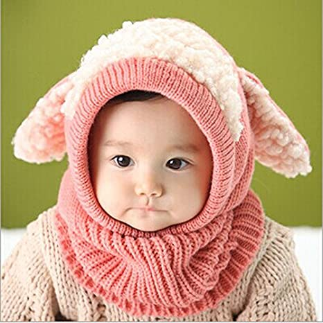 Buy Generic blue   Newborn baby hat Winter Baby Kids Girls Boys Warm Woolen  Coif Hood Scarf Caps Hats Baby girls hat Online at Low Prices in India -  Amazon. ... b22745575