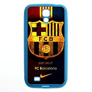 Retro FC Barcelona Colorful Samsung Galaxy S4 I9500 Case Cover TPU Futbol Club Barce