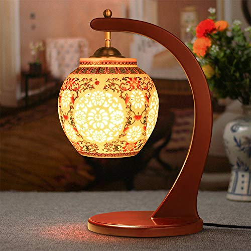 Hand Painted Porcelains Chinese Retro Table Lamp Bedroom Bedside Light Living Room Study Lamp Decoration - Table Porcelain Lamps Hand Painted
