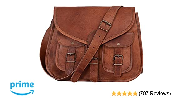Amazon.com  KPL 14 Inch Leather Purse Women Shoulder Bag Crossbody Satchel  Ladies Tote Travel Purse Genuine Leather  Komal s Passion Leather 43b3b36f480cf