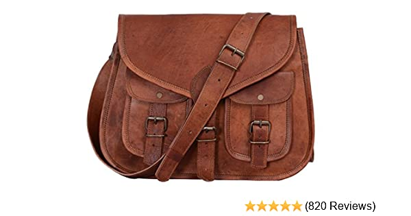 Amazon.com  KPL 14 Inch Leather Purse Women Shoulder Bag Crossbody Satchel  Ladies Tote Travel Purse Genuine Leather  Komal s Passion Leather 43b3b36f480cf