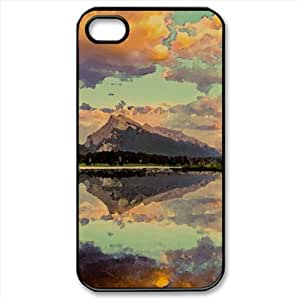 Sunset Clouds Watercolor style Cover iPhone 4 and 4S Case (Lakes Watercolor style Cover iPhone 4 and 4S Case)