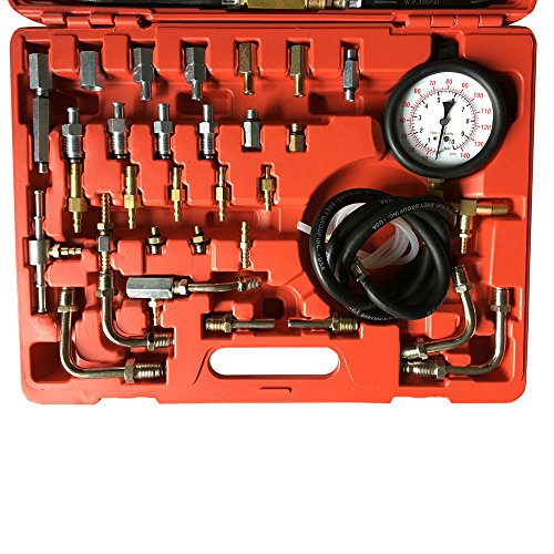 MILLION PARTS Professional Fuel Gasoline Injection Pump Pressure Tester Manometer Gauge Test Meter Car Truck Tools Kit 0-140psi with Case by MILLION PARTS (Image #2)