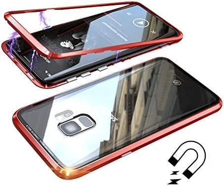 Funda Samsung Galaxy S9, [Adsorción Magnética] Marco de Metal Carcasa de Teléfono Parachoque Imanes Incorporados con Cubierta Dura de Trasera de ...