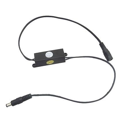 Myfei Interruptor automático de sensor infrarrojo, sensor de movimiento PIR cuerpo detector DC5V-24V