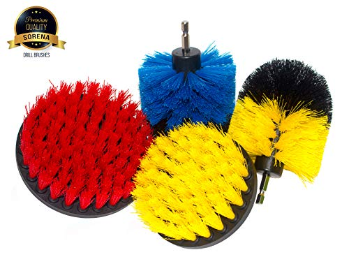 Multi-Purpose Drill Brush Attachment for Cleaning - Power Scrubber Brush