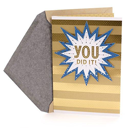 Hallmark Congratulations Card or Graduation Card (You Did It!) -
