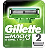 Lâmina de Barbear Gillette Mach3 Sensitive Carga com 2 unidades