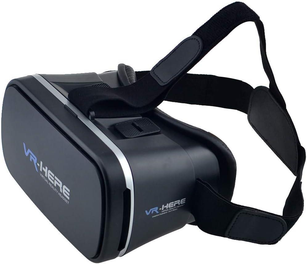 HEHE Realidad Virtual VR Box Gafas 3D Auriculares VR Gafas VR, Vea películas en 3D Videos 360 ° Compatible con teléfonos de 3.5-6 Pulgadas iPhone Android Teléfono Universal