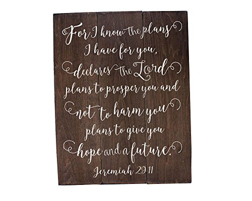 Jeremiah 29 11 Wall Art For I know the plans Jeremiah 29:11 Wood Bible Verse Art Nursery Bible Verse Art Wooden Bible Verse Sign