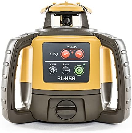 Topcon RL-H5A Self Leveling Horizontal Rotary Laser with Bonus EDEN Field Book IP66 Rating Drop, Dust, Water Resistant 800m Construction Laser Includes LS-80L Receiver, Detector Holder, Hard Case