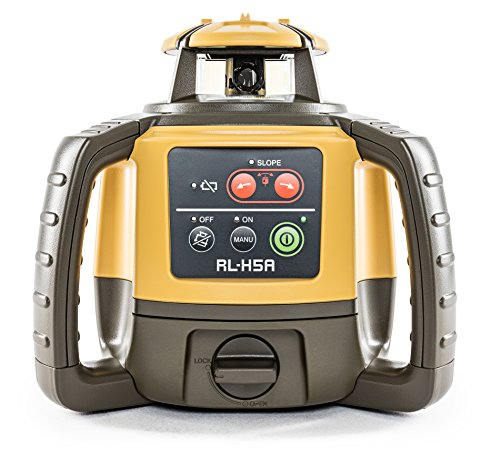 Topcon RL-H5A Self Leveling Horizontal Rotary Laser with Bonus EDEN Field Book| IP66 Rating Drop, Dust, Water Resistant| 800m Construction Laser| Includes LS-80L Receiver, Detector Holder, Hard Case by TOPCON (Image #1)