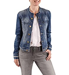Jag Jeans Women\'s Dixie Jacket in Capital Denim, Dark Indigo, Medium
