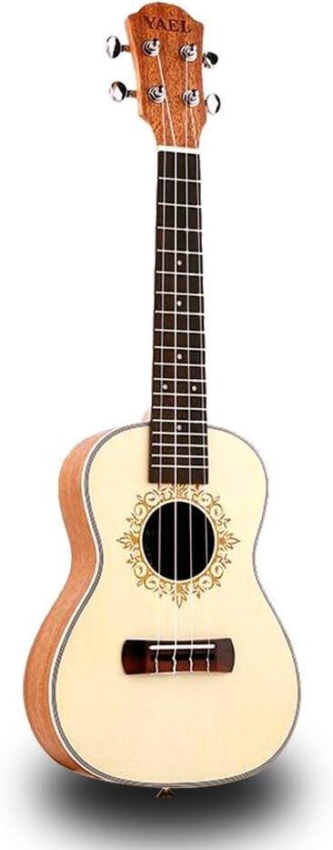 QLJ08 Ukelele de concierto de 23 pulgadas 4 cuerdas de nylon Sapele mini guitarra acústica Guitarra Uku Ukelele Mahogan blanco