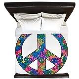 King Duvet Cover Peace Symbols Inside Tye Dye Symbol