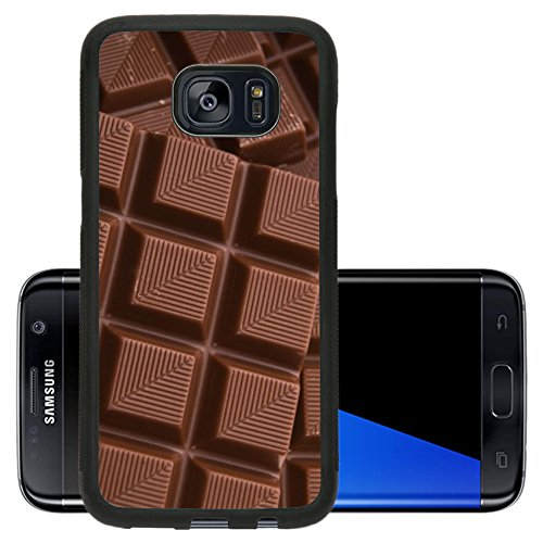 Liili Premium Samsung Galaxy S7 Edge Aluminum Backplate Bumper Snap Case IMAGE ID: 3383075 sweet background chocolate dessert