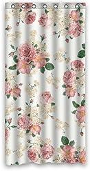 Shower Curtain Vintage Design New Style Romantic Rose Flower Polyester Badezimmer Dusche Vorhang 36 W X72