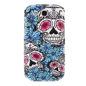 MOM tubanliudongdongBlue Flower And Skull Pattern Hard Case for Samsung Galaxy S3 I9300