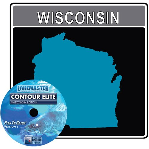 Lakemaster LPWICES1 Contour Elite Mapping Software Wisconsin