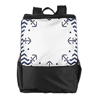 49cfad85f1 ... Bag For Men And Women durable modeling. Newfood Ss Marine Yacht Themed  Design With Wave Like Zig Zags And Anchors Pattern Outdoor Travel