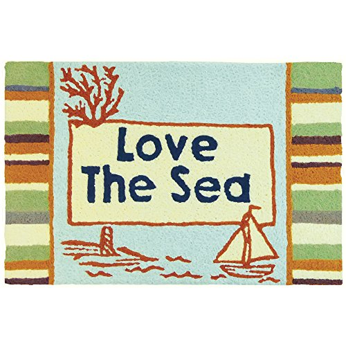 Jellybean Love The Sea Coastal Indoor/Outdoor Machine Washable 21