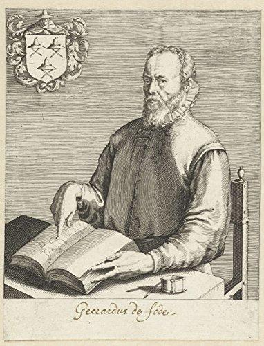 """Timeless Art Poster - Portrait of Gerard de Jode, Hendrick Goltzius, 1624 - 1679 11"""" x 14"""""""