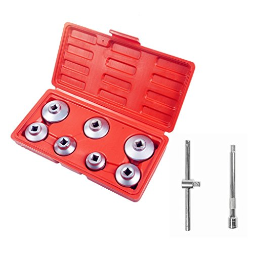 Ibetter 7 Pcs Oil Cartridge Filter Socket Set with 3/8